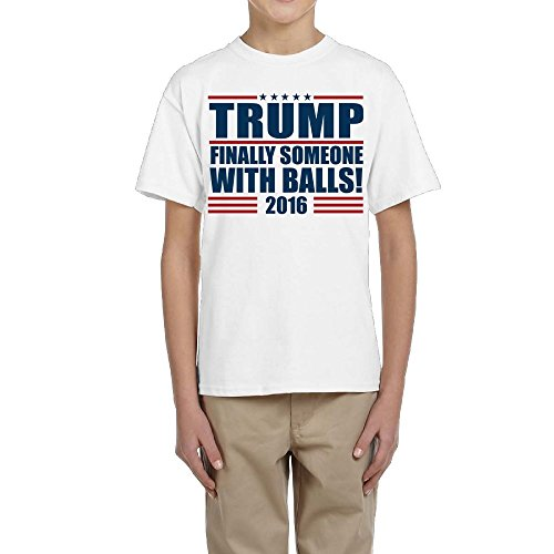 LingBer Youth Trump Finally Someone with Balls 2016 Donald Trump Kids Girls Boys T-Shirt