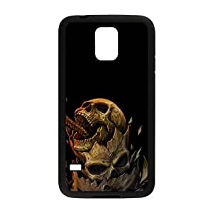 Samsung Galaxy S5 Cell Phone Case Black Angry Dragon Skull SUX_195573