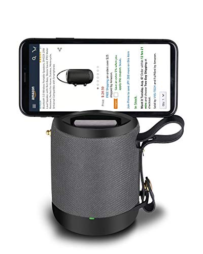 Bluetooth 5.0 Wireless Portable Speakers, AINEED Small Phone Holder Loud Speaker with Rich Bass Stereo Sound, IPX5 Water Resistant, 10 Hours Playtime Perfect for Outdoor, Sports & Motorcycle (Black)
