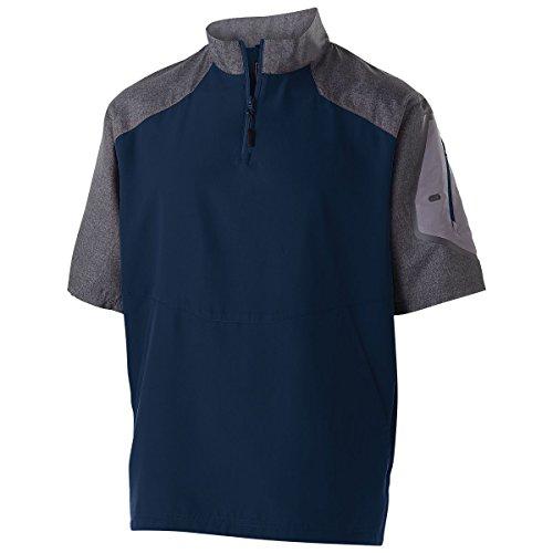 Men's Raider Pullover S/S Holloway Sportswear 4XL Carbon Print/Navy