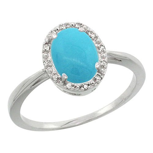 Sterling Silver Diamond Sleeping Turquoise