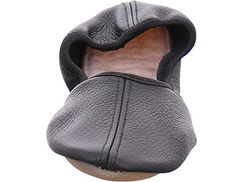 Nappa Herren 080 Leder Gymnastikschuhe für Schwarz Beck Damen und echtem Kinder aus If4q7x