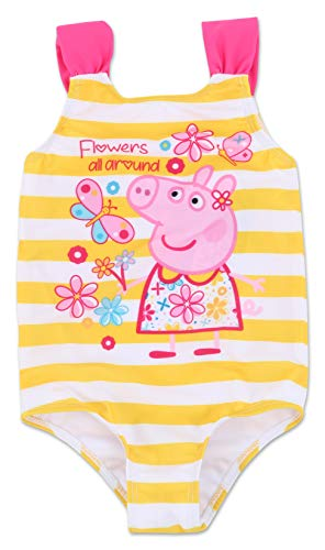Pool Yellow Cloths - Toddler Girl Peppa Pig One Piece Swimsuit 2T