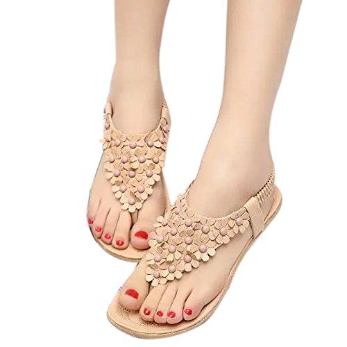 Mädchen Up Flops 1 Sommer Beige Lace Frauen Blume ZAMME Flip Toe Open Sandale Thongs fgZxn1