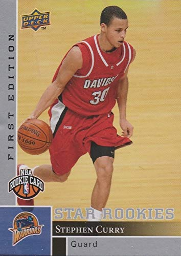 2009-10 Upper Deck - FIRST EDITION - Star Rookies - Steph Stephen Curry - Golden State Warriors NBA Basketball Rookie Card - RC Card #196