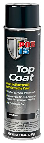 Top Coat Roll - POR-15 45818 Gloss Black Top Coat - 14 fl. oz.