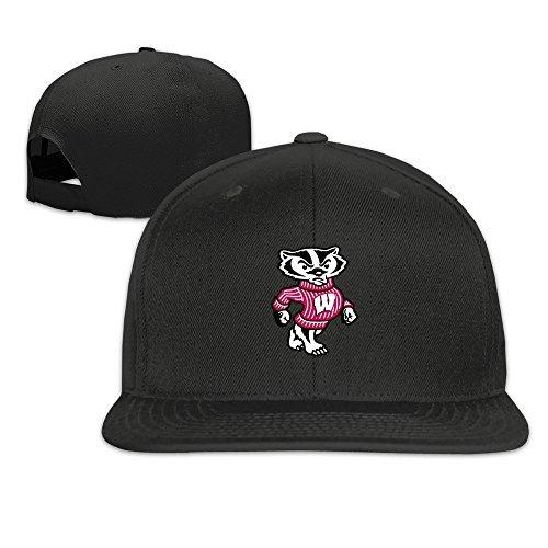 MaNeg University Of Wisconsin Madison Badger LOGO Unisex Fashion Cool Adjustable Snapback Baseball Cap Hat One Size - Dior Logos