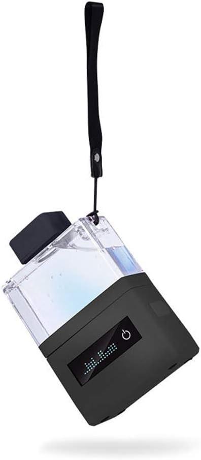 Generador de hidrógeno de agua Portátil, Frasco de agua rica en hidrógeno recargable, Botella de deportes del banco de poder, Carga USB diseño de moda,Negro: Amazon.es: Hogar