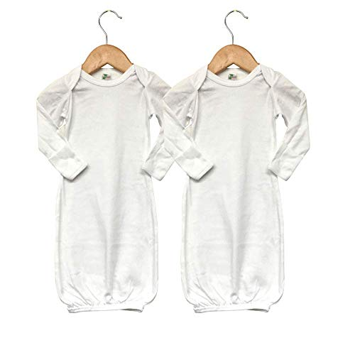 (Laughing Giraffe Baby Long Sleeve Sleeper Gown with Mittens (2-Pack) White)
