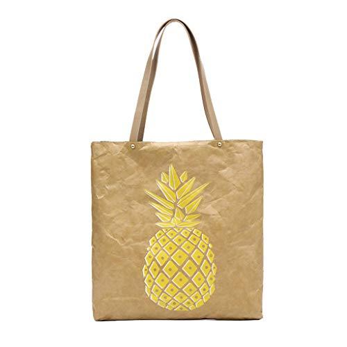 Dainzuy Messenger Bags, Women Single Paper Shoulder Bag Lightweight Classic Color Waterproof Zipper Large-Capacity Handbag -