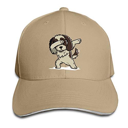 Unisex Dabbing Shih Tzu Cotton Baseball Cap Classic Dad Hat for Mens Womens