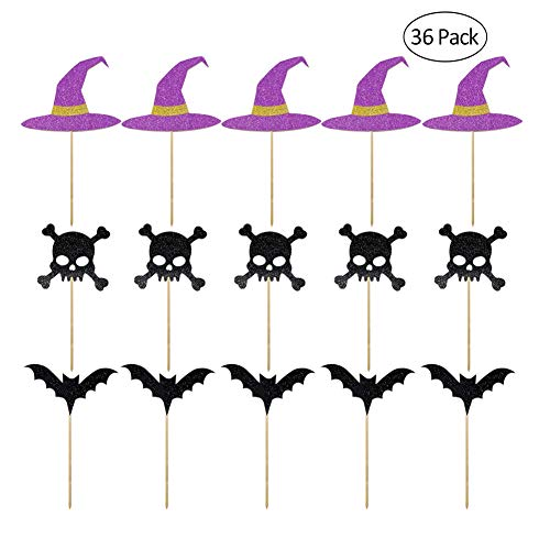 Sharlity Halloween Cupcake Topper Ghost Decor for Kids Birthday Party Themed Party -