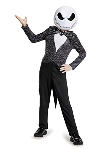 Jack Skellington Child Classic Nightmare Before Christmas Disney Costume, Large/10-12 ()