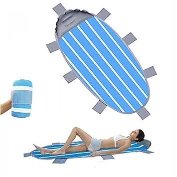 Noblik - Colchoneta Hinchable para la Playa al Aire Libre, para la ...