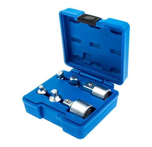 Vierkant Adapter Set 6-tlg. Steckschlüssel Verlängerung Ratschen Knarren Nuss Satz