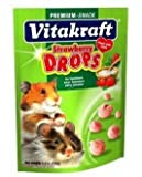 Vitakraft Hamster Strawberry Drops and 5.3-Ounce Pouch, hamster, cage, vitakraft, kids, shop, food
