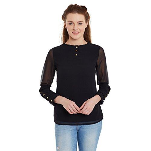 PANIT Black Full Sleeves Stylish Top
