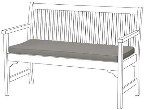Selección de almohadillas de asiento resistentes al agua y cojines para muebles de jardín o patio. Por Shopisfy, color gris: Amazon.es: Hogar