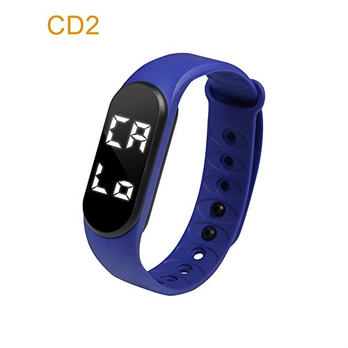 er,CD2 Smart Watch Bracelet with Heart Rate Monitor and Sleep Monotir, Waterproof Color Screen Smart Watch,Step Counter Pedometer and Calorie Counter for Wome Men Kids (navy) ()
