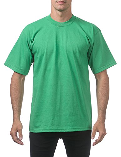 Ribbed Green Kelly (Pro Club Men's Heavyweight Cotton Short Sleeve Crew Neck T-Shirt, 4X-Large, Kelly Green)