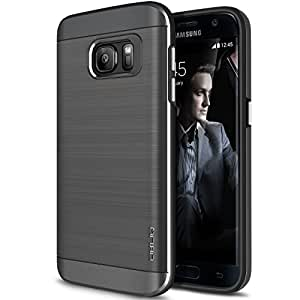Obliq Slim Meta Dual Layer Protection Case with Shock Absorbing TPU Inner Layer for Samsung Galaxy S7 - Titanium Space Gray