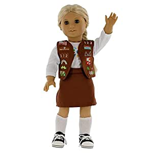 Amazon.com: Brownie Girl Scout Inspired Doll Outfit for