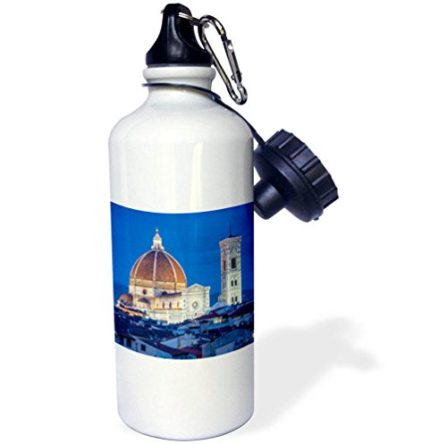 3dRose Danita Delimont - Churches - Italy, Florence, Cathedral, Duomo, night - 21 oz Sports Water Bottle (wb_277582_1) by 3dRose