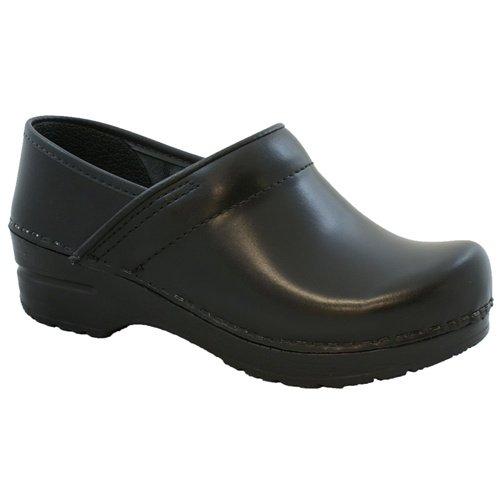 Sanita Cabrio Black in Brush-Off Leather