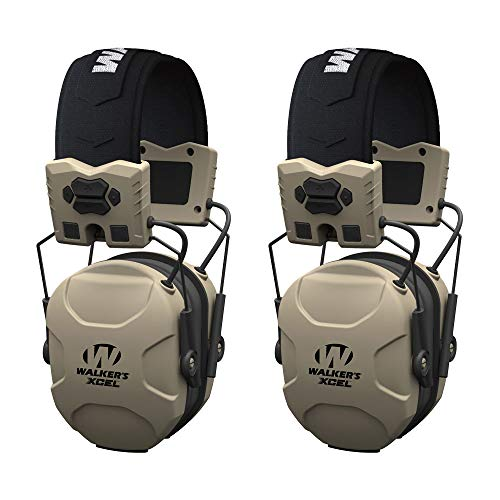 - Walkers XCEL 100 Active Shooting Ear Hearing Protection Equipment Earphone Muff (2 Pack)