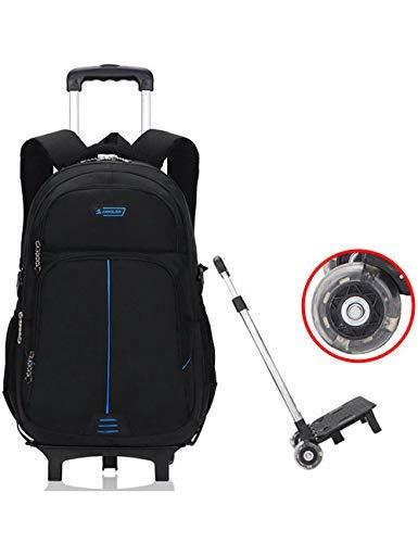a basso prezzo e7dc3 57557 Zaino con ruote - Borsa da viaggio durevole con rotelle Daypack Borsa da  viaggio con eleganti borse Daypack rimovibili (2 ruote)