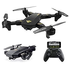 Arris Quadcopter Drone Camera Live Video, Foldable Drone 2.4G WiFi FPV Pocket Quadcopter RTF 720P 2MP HD Camera - Altitude Hold/Headless / One Key Take Off/Landing /APP Control / 3D Flip from Hobby-wing