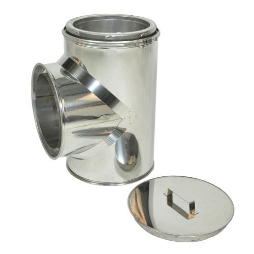 - Shasta Vent Tee with Tee Cap for Class A, All Fuel, Double Wall, Insulated, SS 8