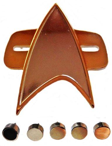 Star Trek VOYAGER Full Size COMMUNICATOR Pin and Set of 5 Officer Rank PIPS (Star Trek Voyager Costume)
