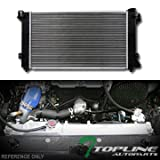 Topline Autopart Aluminum Core Replacement Radiator Cooler For AT Automatic MT Manual Transmission For 96-00 Chrysler / Plymouth Grand Caravan / Voyager 2.4L 3.0L 3.3L 3.6L 3.8L V6 Engine DPI 1862