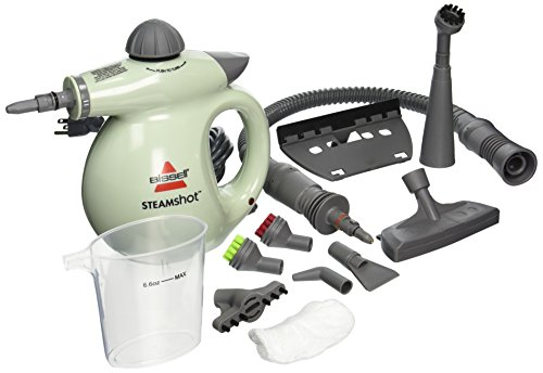 BISSELL 39N7A/39N71 Steam Shot Deluxe Hard-Surface Cleaner, Light Green (Best Dry Steamer For Bed Bugs)
