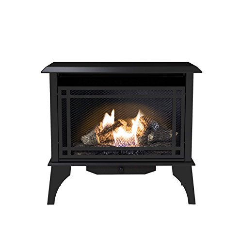 Vent Free Gas Fireplace - Pleasant Hearth VFS2-PH30DT 30000 BTU Vent-Free Gas Stove, 32