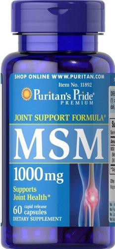 025077118922 - Puritan's Pride MSM 1000 mg-60 Capsules carousel main 0