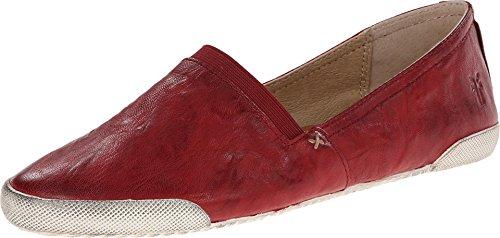 FRYE Damen Melanie Slip-on Fashion Sneaker Gebrannte rote antike weiche Weinlese