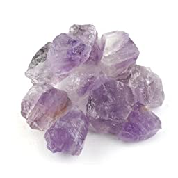 Crystal Allies Materials: 1lb Bulk Rough Purple Amethyst Quartz Crystals from Brazil - Large 1\