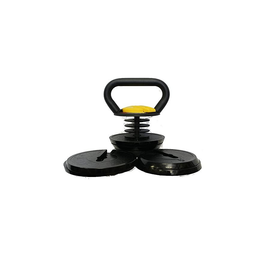 Kettlebell Kings Black Adjustable Kettlebell Weights & Kettlebell Set   Kettlebells For Women & Men, 10 40 Pounds Made For Home Use, Swings, Squats, Press