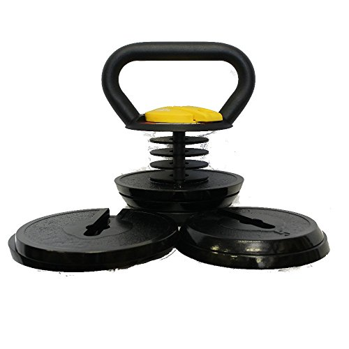 Kettlebell Kings | Black Adjustable Kettlebell | 10 40 Pounds Made For Diverse Workouts and Home Use