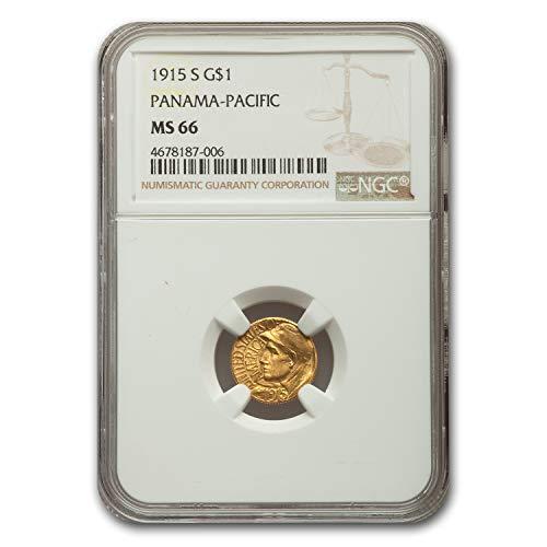 1915 S Gold $1.00 Panama-Pacific MS-66 NGC G$1 MS-66 NGC