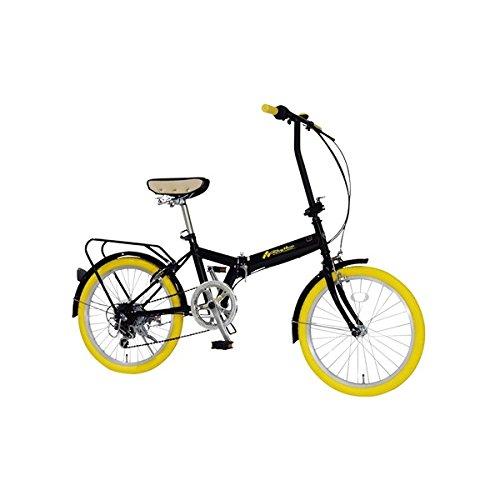 折りたたみ自転車 20インチ/イエロー(黄) シマノ6段変速 【MIWA】 ミワ FD1B-206【代引不可】 生活用品 インテリア 雑貨 自転車(シティーサイクル) 折り畳み自転車 top1-ds-1634643-ah [簡素パッケージ品]   B06XQSGF83