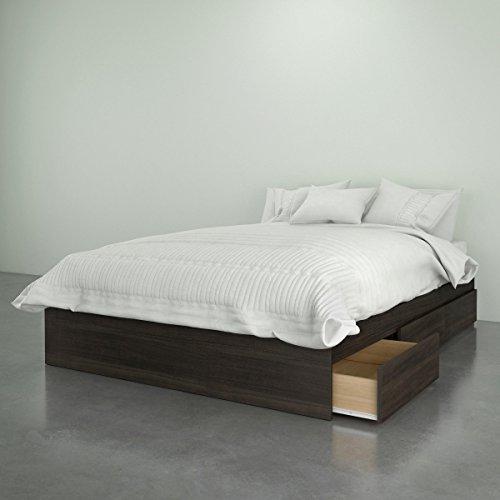 Nexera 375430 3-Drawer Storage Bed, Full Size, Ebony