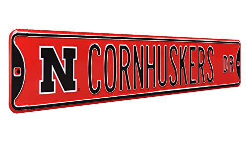 NCAA Cornhuskers Dr.-, Heavy Duty, Metal Nebraska Street Sign Wall Decor