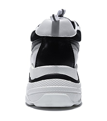 Gym Chaussons Ubeauty Basses Femme De Blanc Chaussure Sport Fitness Cuir Baskets Course Sneakers Homme Running w4fZRq