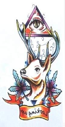 Tatouage Temporaire Motif Cerf Illuminati De Taille 10 5 6 Cm