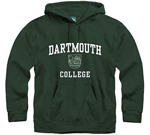 (Ivysport Dartmouth College Hooded Sweatshirt, Crest, Hunter Green,)