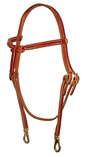 Berlin Custom Leather Headstall Hermann Oak Knotted Chestnut H201 ()