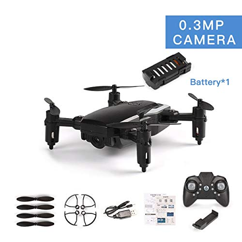 CNluca para LF606 Drone con cámara de 0.3MP FPV Quadcopter Plegable RC Drones HD Altitude Hold Mini Drone niños Juguetes para niños RC helicóptero